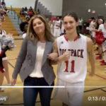 Brittany Wagner walks out Senior on Senior Night