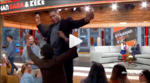 Michael Strahan dancing on GMA