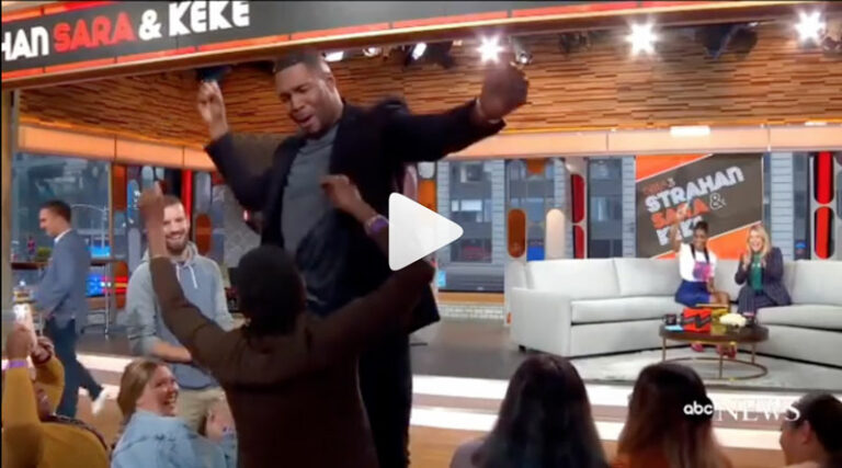 Michael Strahan dancing on GMA
